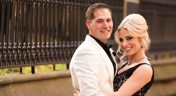 Borrowed and Blue Features Amie and Tim's Glamorous Wedding
