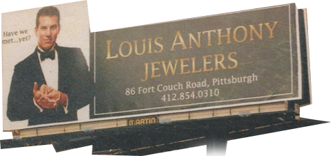 Louis Anthony Jewelers Billboard