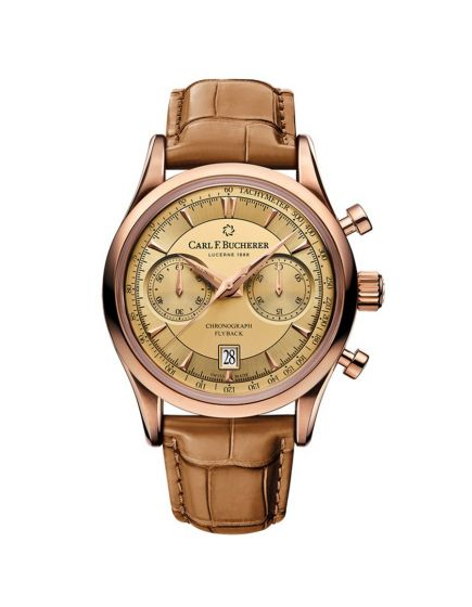 Carl F. Bucherer Manero Flyback  Watch With Leather Band