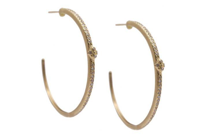 "Armenta ""Sueno"" Crivelli Diamond Hoop Earrings"