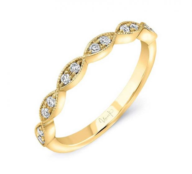 Uneek Jewelry Diamond Wedding Band in 14K Yellow Gold