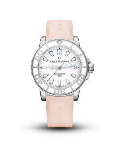 Carl F. Bucherer Patravi ScubaTec Watch with Rose Rubber Strap