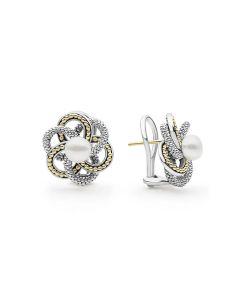"""LAGOS """"Love Knot"""" Pearl Earrings"""