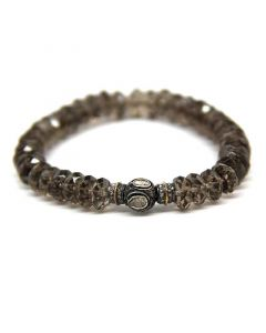Amalia Jewel Quartz and Diamond Stretch Bracelet