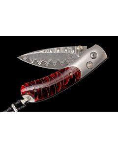 """William Henry """"Red Wave"""" B09  Pocket Knife"""
