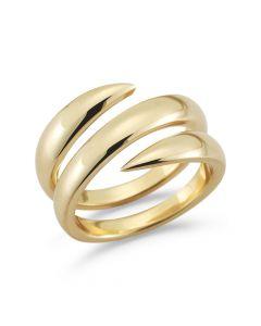Barbela Design Double Vault 14kt Yellow Gold Ring