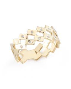 Barbela Design Diamond Tessa 14kt Yellow Gold Ring