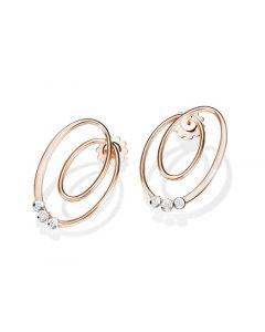"""Mattioli """"Tibet"""" Movable Diamond Earrings in White & Rose Gold"""