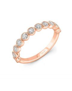 Uneek Diamond Wedding Band in 14K Rose Gold