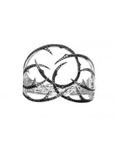 "Stephen Webster ""Thorn"" Cuff Black and White Diamond women's Bracelet"