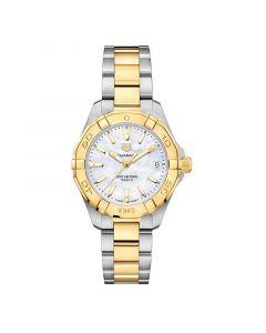 Aquaracer 300M Steel and Gold Quartz Women's Watch