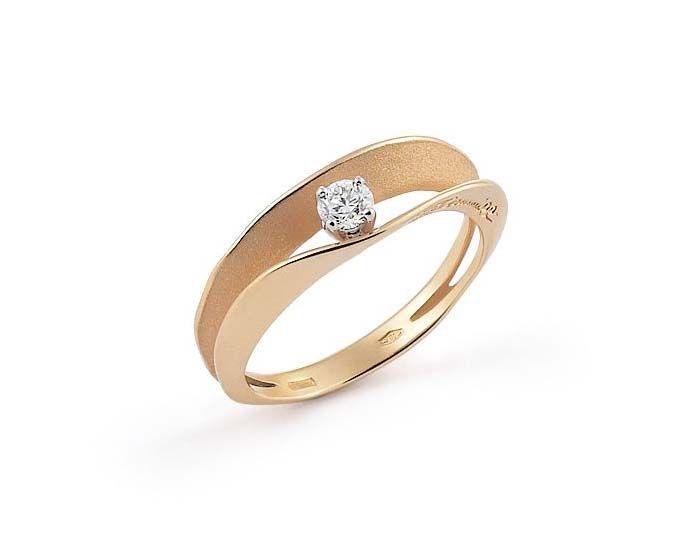 "Annamaria Cammilli ""Dune"" 18kt Orange Gold Diamond Ring"